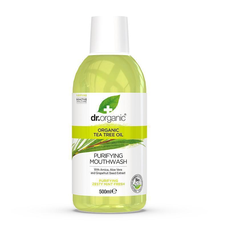 Tea Tree Mouthwash 500ml - Dr Organic