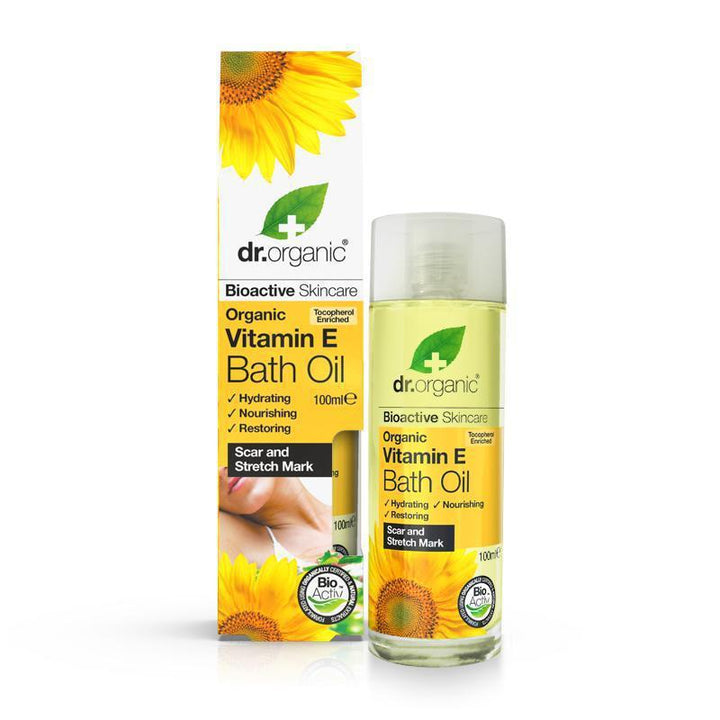 Vitamin E Bath Oil 100ml - Dr Organic