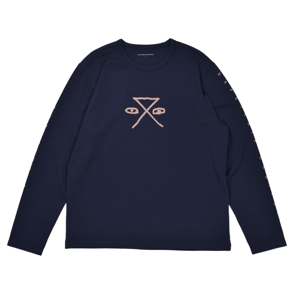 Longsleeve Shirt - SAFE-TRIP.ORG/POP Longsleeve Shirt (Navy)