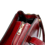 Women's genuine waxed cowhide leather handbag Boling V2 design by Tomorrow Closet