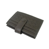 Unisex handwoven lambskin leather card holder with buckle by Tomorrow Closet