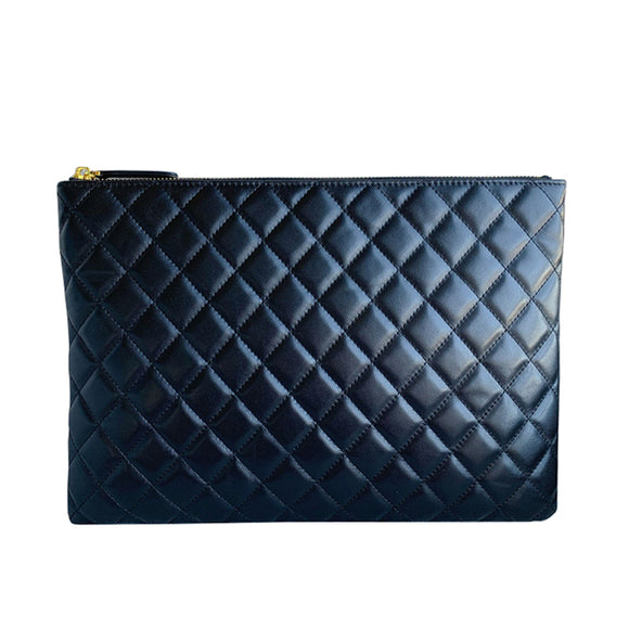 Unisex lambskin leather Clutch Diamond design by Tomorrow Closet