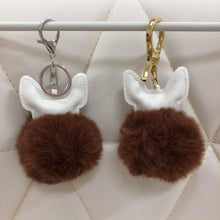 Load image into Gallery viewer, Puppy with fur ball bag charm by Tomorrow Closet