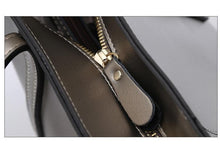 Load image into Gallery viewer, Women's genuine cowhide shining leather handbag depaule design by Tomorrow Closet