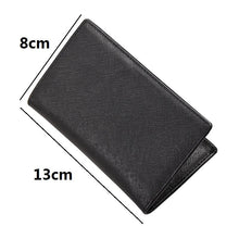 Load image into Gallery viewer, Unisex leather card holder classic fold design by Tomorrow Closet