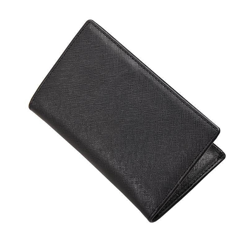 Unisex leather card holder classic fold design by Tomorrow Closet