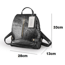 Load image into Gallery viewer, Women's and Men's unisex cowhide leather backpack in regular mixed crocodile print by Tomorrow Closet