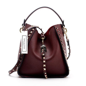 Women's genuine cowhide leather handbag Gloria design comes with one pouch by Tomorrow Closet