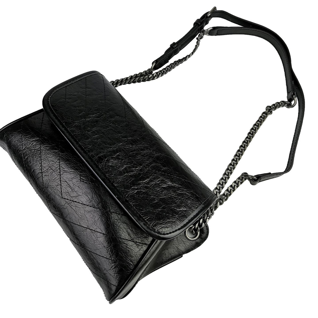 Women's genuine cowhide leather handbag Wing design Messenger sling bag by Tomorrow Closet
