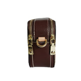 Women's genuine cowhide leather engraved handbag Murca design with dual zip by Tomorrow Closet