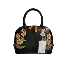 Load image into Gallery viewer, Women's genuine cowhide leather engraved handbag Palour design by Tomorrow Closet