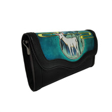 Load image into Gallery viewer, Women's genuine cowhide leather engraved wallet/clutch Three way sling bag design by Tomorrow Closet