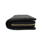 Women's cowhide leather short wallet/purse Chevron V2 design by Tomorrow Closet