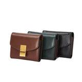 Unisex genuine cowhide leather Square design card holder by Tomorrow Closet