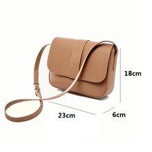 Load image into Gallery viewer, Women's genuine cowhide leather handbag Square V2 design by Tomorrow Closet