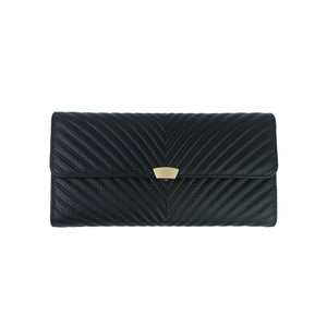 Women's cowhide leather wallet/purse Chevron design by Tomorrow Closet