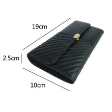 Load image into Gallery viewer, Women's cowhide leather wallet/purse Chevron design by Tomorrow Closet