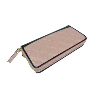 Women's cowhide leather wallet/purse Diamond design long version by Tomorrow Closet