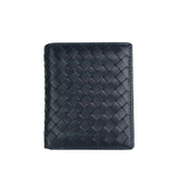Women's and Men's unisex lambskin handwoven vertical flap wallet by Tomorrow Closet