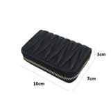 Unisex genuine lambskin leather Falten design card holder by Tomorrow Closet