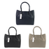 Women's genuine handwoven lambskin leather handbag top handle shopping tote with suede interior