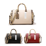 Women's genuine cowhide leather handbag Belle design V2 in python print by Tomorrow Closet