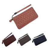 Women's  lambskin falten design wallet with removable wrist strap by Tomorrow Closet