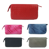 Women's lambskin handwoven chain wallet/purse/clutch by Tomorrow Closet