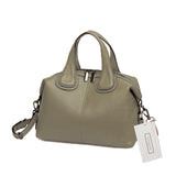 Women's genuine cowhide leather handbag Box design by Tomorrow Closet