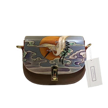 Load image into Gallery viewer, Women's genuine cowhide leather engraved handbag Edgar design by Tomorrow Closet