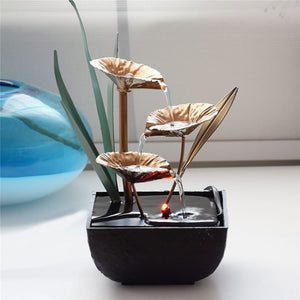 Water Lily Tabletop Fountain