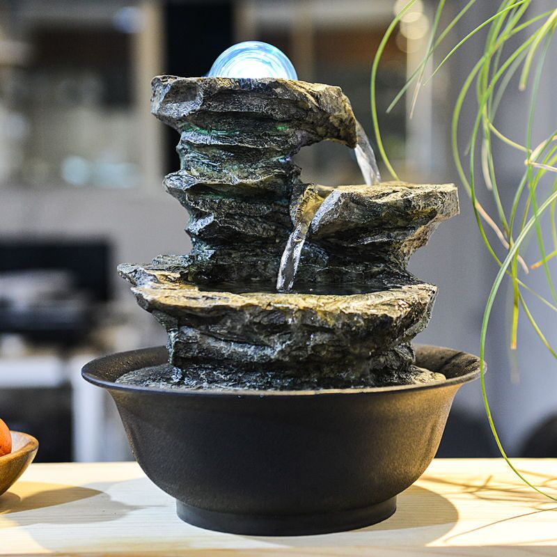 Stone Waterfall Tabletop Fountain