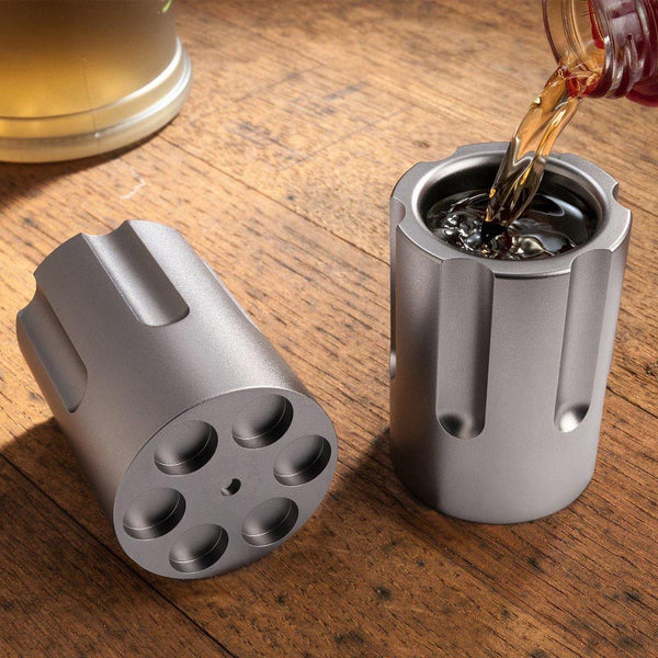Six Shooter Shot Glass