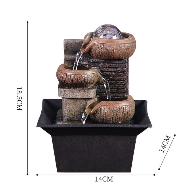 Pot Waterfall Tabletop Fountain
