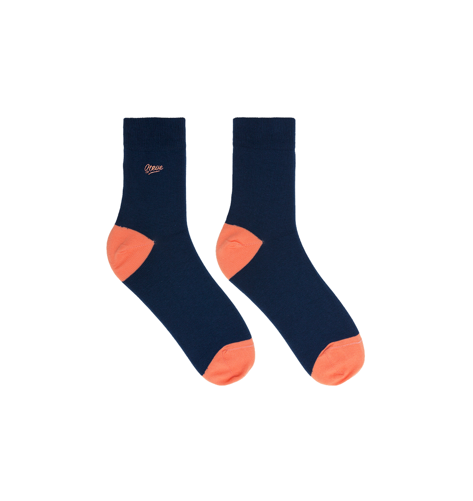 Navy Coral Socks