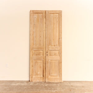 Circa 1860-1910 French or British Door Pair; Origin: Alexandria