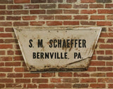 Vintage S.M. Schaeffer Metal Sign