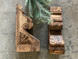 Ornate Wooden Corbel Pair