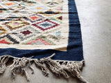 Handwoven Egyptian Wool Rug; 7' x 4'
