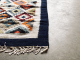 Handwoven Egyptian Wool Rug; 5' x 2''