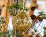 Round Ornament with Gold Stars