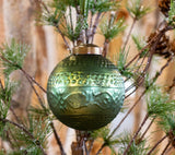 Green Embossed Ornament