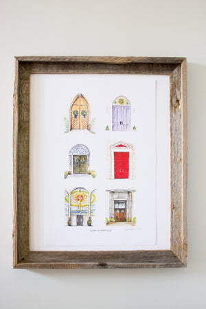 Doors of Huntsville Watercolor Print