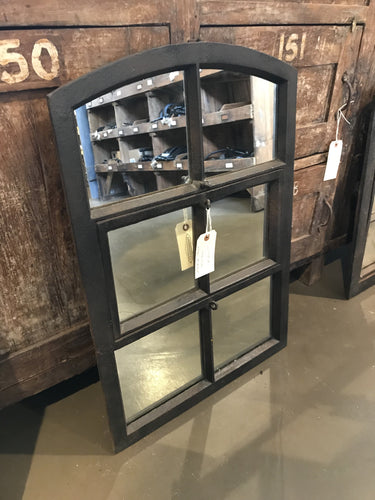 Steel window mirror (27 1/2 x 19 in)