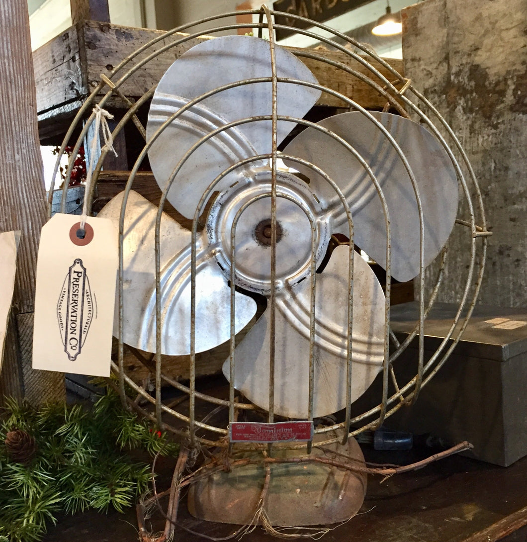 Vintage Metal Fan- needs wiring