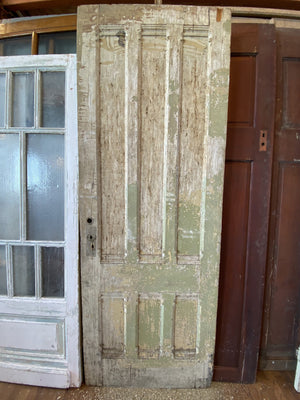 Green and White Patina Door