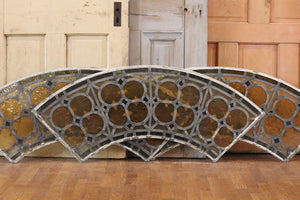 Arched Stained Glass Transom Window (Local Pickup Only)