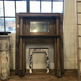 Wooden Double Mantle with Mirror