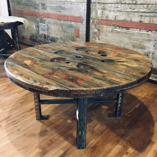 Reclaimed Wooden Spool Table
