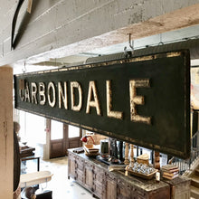 Green Metal Carbondale Sign